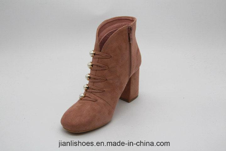 Классические ботинки для лодыжки с бисером (AB632)