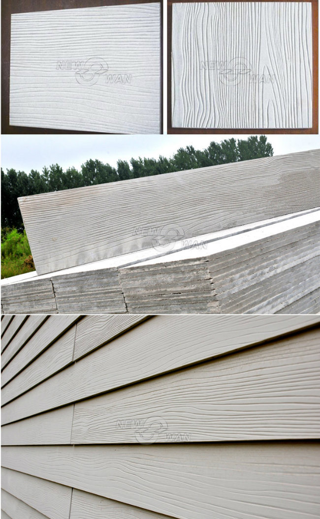 Exterior Cement Board Siding : China smooth wood grain fiber cement board for exterior