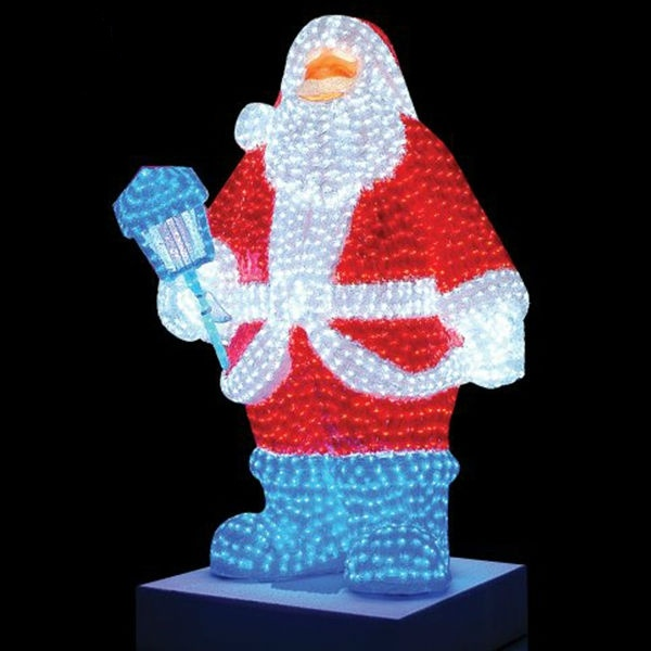 China giant lighted led commercial grade santa claus for Decoration led exterieur