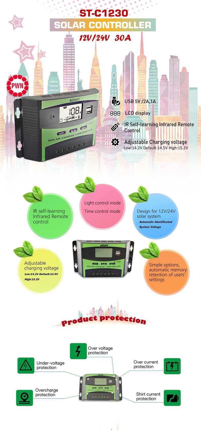 tps 1230 solar regulator manual