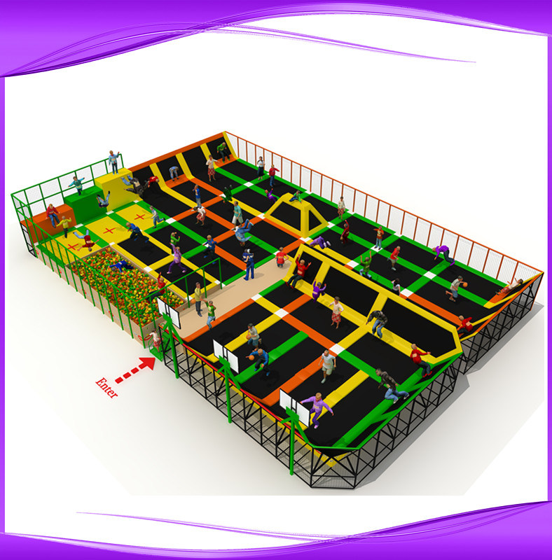 Springs Trampoline Park Waiver: China Dubol Indoor Trampoline With Foam Pit (3209A