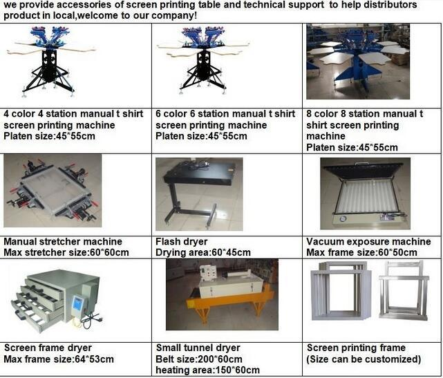 t shirt screen printing machine 8 color
