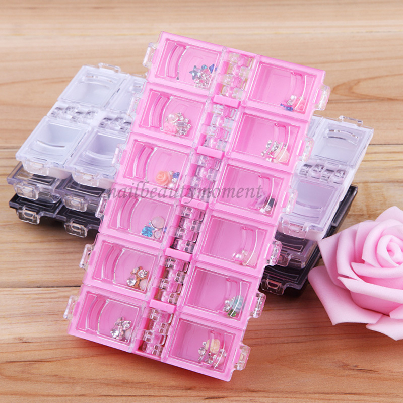 Manicure Nail Beauty Storage Kotak Kotak Wadah Kosong (C24)