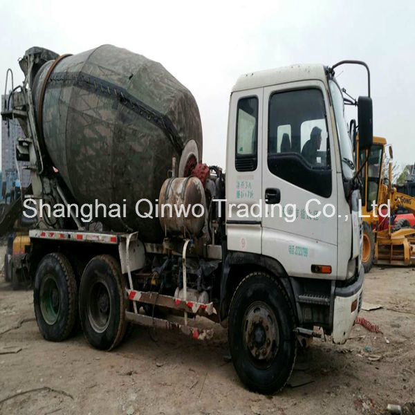 China used isuzu cement mixer truck with 10pe1 engine for for Cement mixer motor for sale