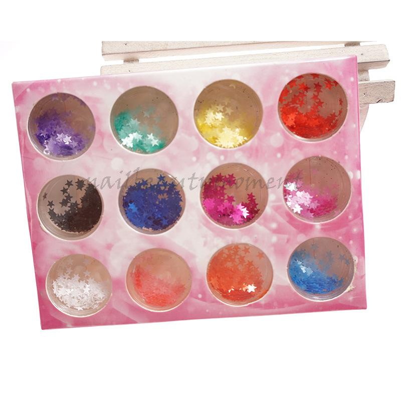 Thin Star Glitter Nails Art Decoration Products Manicure Kit (D71)