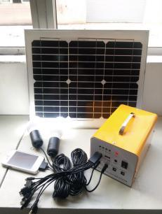 Portable Mini Solar Lighting Kit with MP3 and Radio Function