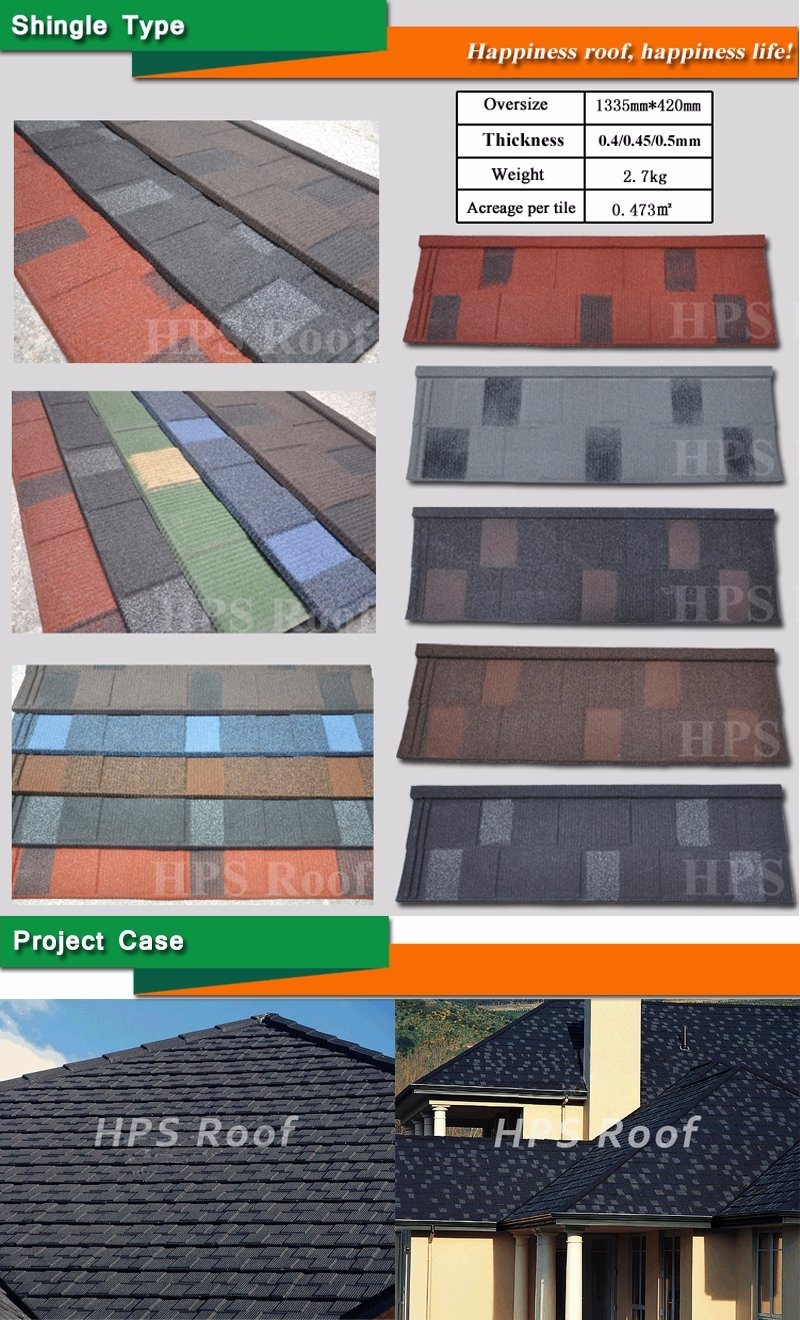 Building Material Sampling : China roofing material aluminum plate stone tile for house