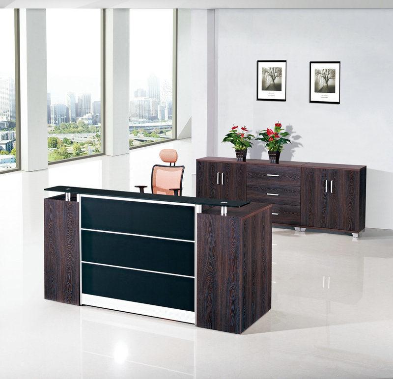 Muebles de oficinas de madera del escritorio de recepción de la