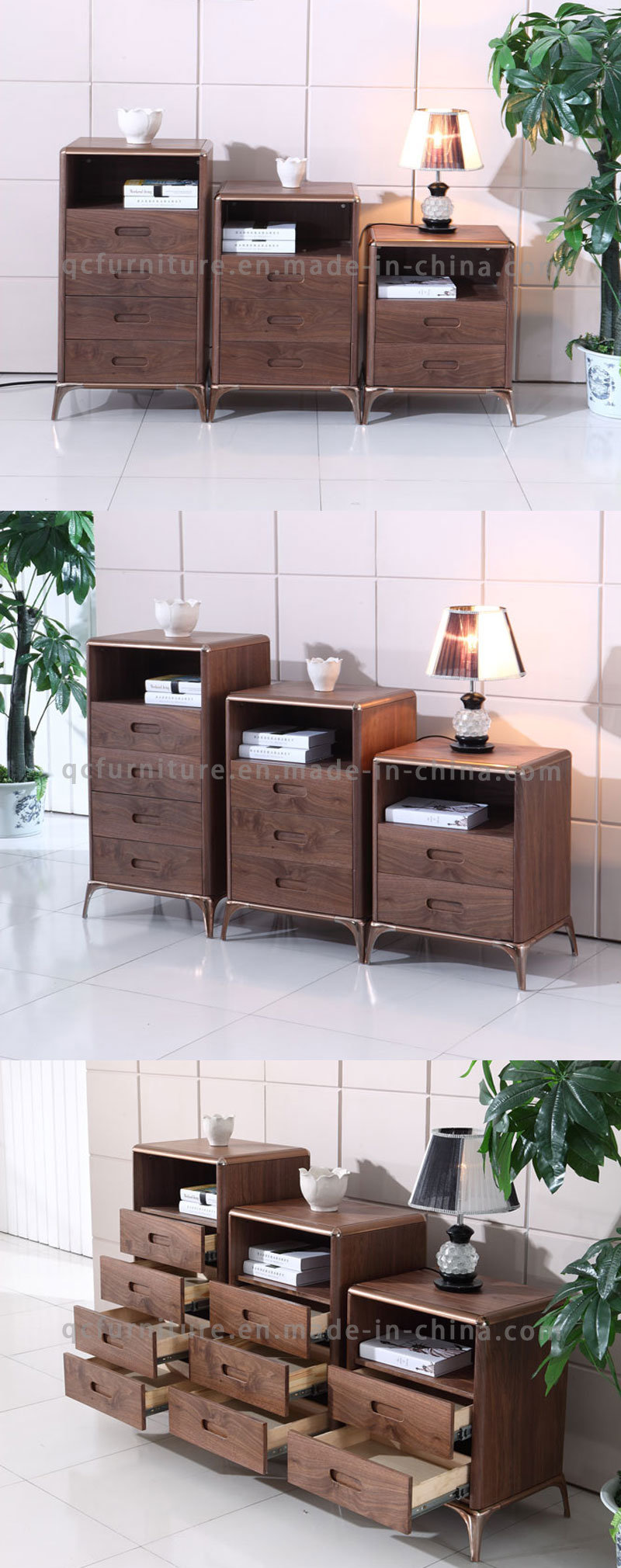China Living Room Furniure Mini Solid Wood Shallow Chest of ...