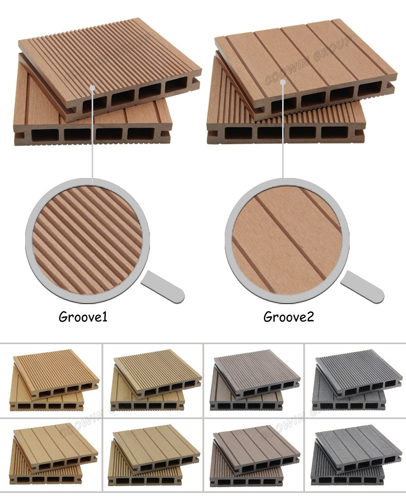Recycled Composite Wood Plastic Decking, Waterproof Outdoor WPC Decking