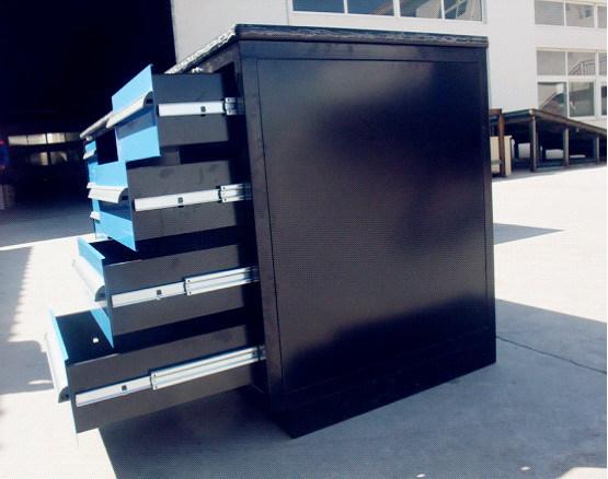 tabli en acier remplissant de garage de cabinets de stockage de tiroir de bo tes outils. Black Bedroom Furniture Sets. Home Design Ideas