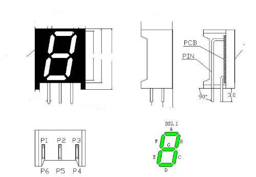 Bended Pins Custom 7 Segment LED Display