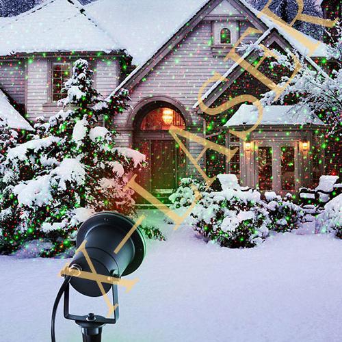 Jardin ext rieur allumant le projecteur multi de laser de for Lumiere exterieur jardin
