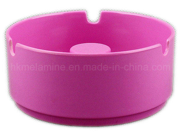 Red Melamine Round Ashtray with Solid Color