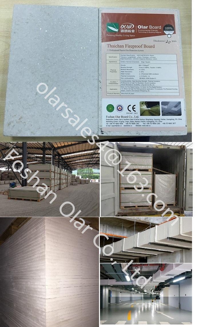 Building Board Fireproof Tar Sheets : 섬유 시멘트 널 장 갱도 덕트를 위한 내화성이 있는 건축재료