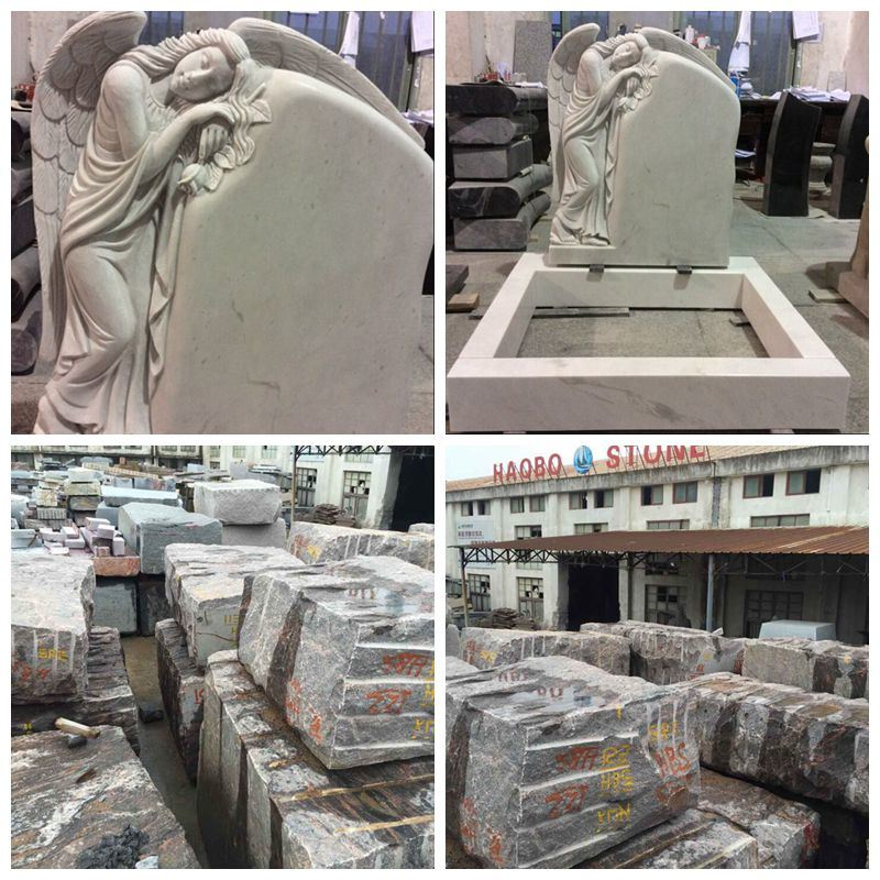 Natural Wholesale Price for 6 Crypt Grey Granite Mausoleum