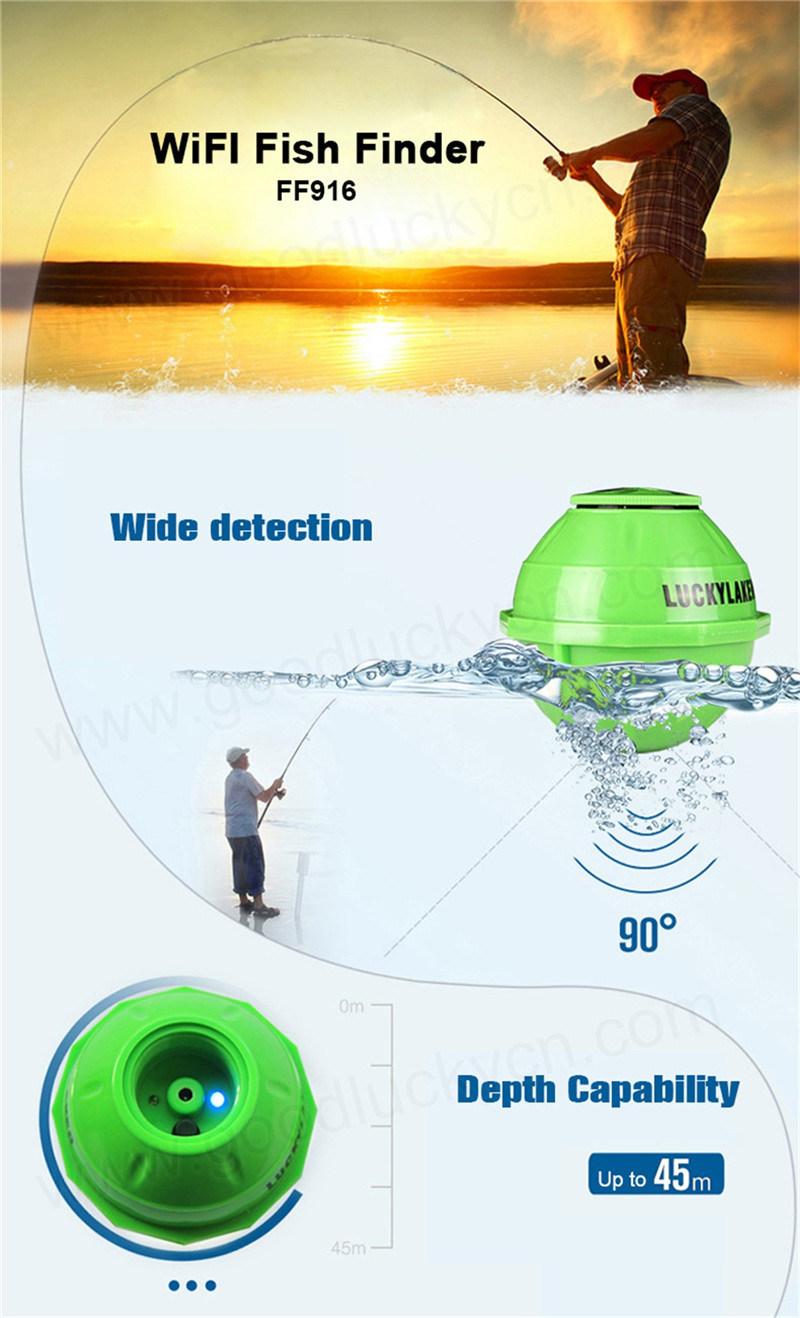 China wireless wifi sonar fishfinder ff916 china smart for Wifi fish finder