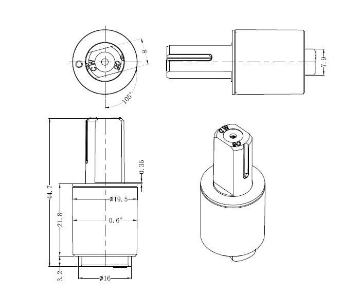 Rotary Damper Design Oil Soft Close Rotary Damper