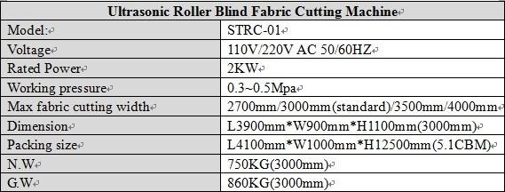 Ultrasonic Roller Blind Fabric Cutting Machine (STRC-01)