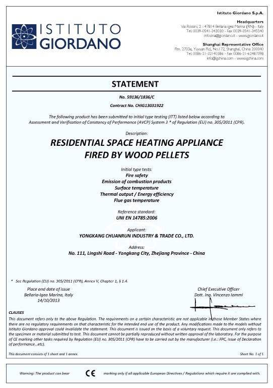 높은 품질의 목재 펠렛 스토브 / CE 인증 (CR-01)와 벽난로 – 높은 ...