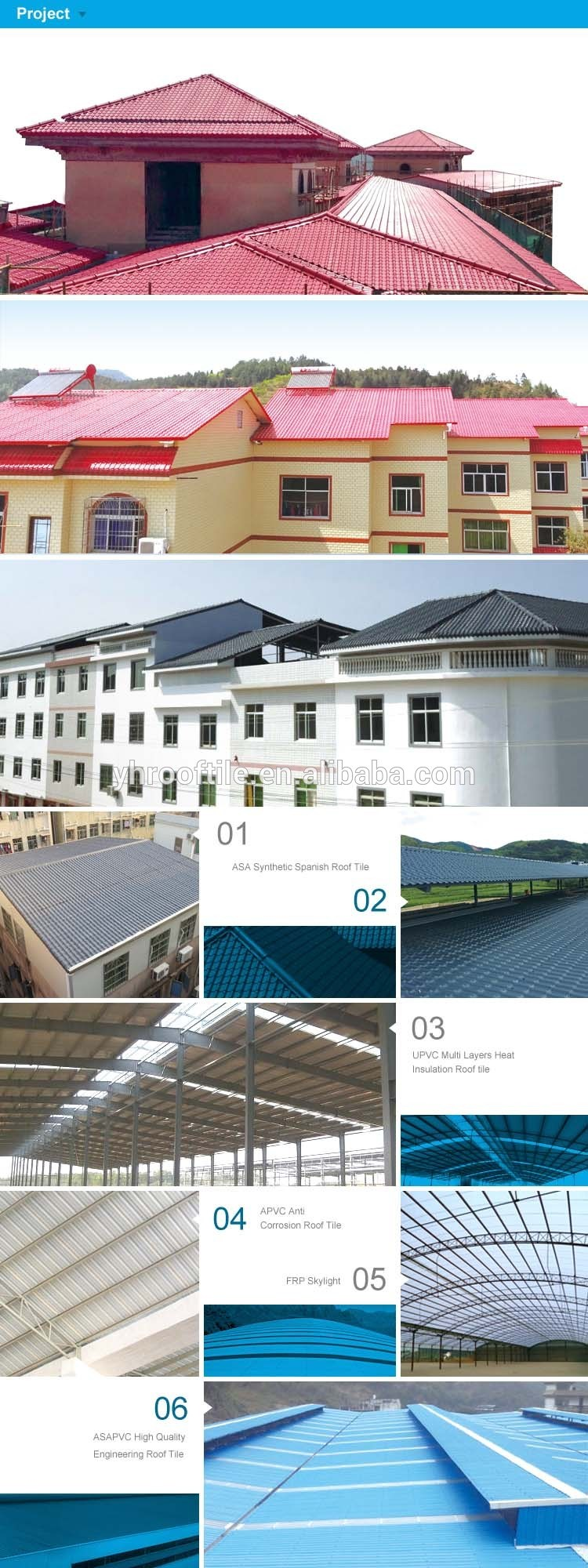 China Spanish Style Roof Sheet Lightweight Roofing