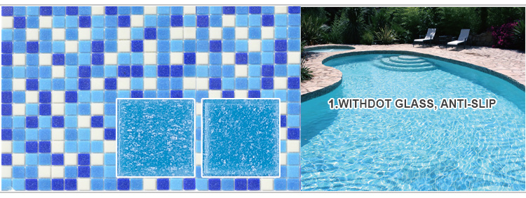 2016 New Trend Glass Mosaic Tiles Swimming Pool Mosaic Glass Mosaic for Swimming Pool Tile
