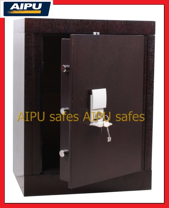 Fuego proof wooden finish luxury home safe con double for Luxury home safes