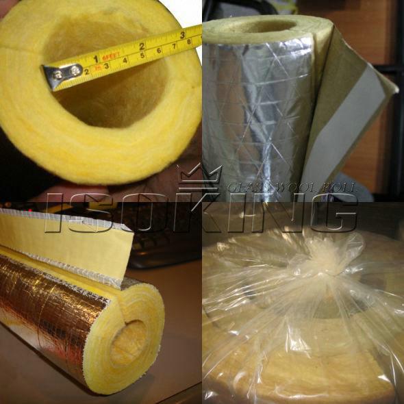China fiber glass wool pipe insulation china glass wool for Fiber wool insulation