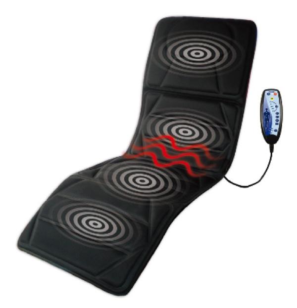 Matelas de massage de corps entier de vibration de 5 moteurs matelas de mass - Matelas massage electrique ...