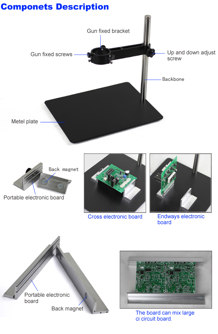 Circuit Board Holder With Hot Air Gun Stand Details About Pcb Tool Fixtures Repair Kit For Welding Special Platform