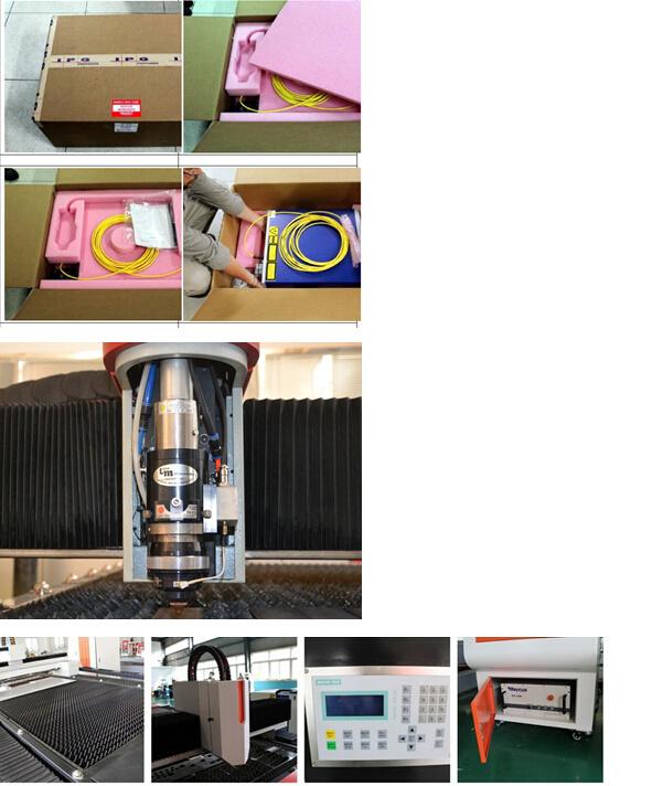 500W High Quality CNC Fiber Laser Cutting Machine for Mild Steel