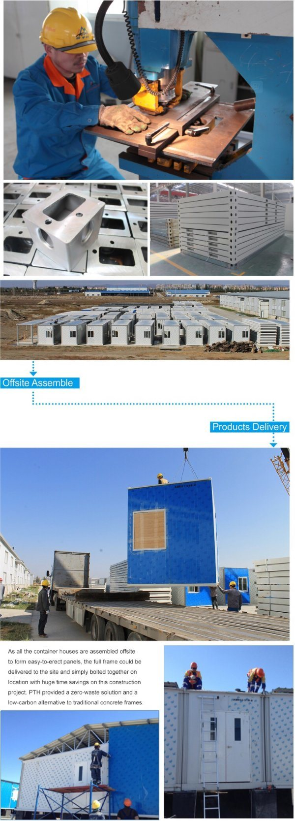 Customized Living Prefabricated Container House in Kazakhstan