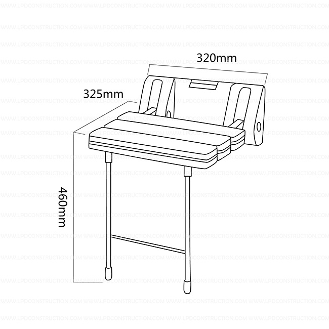 Up Folding Nylon Shower Seat Bath Stool for Disabled