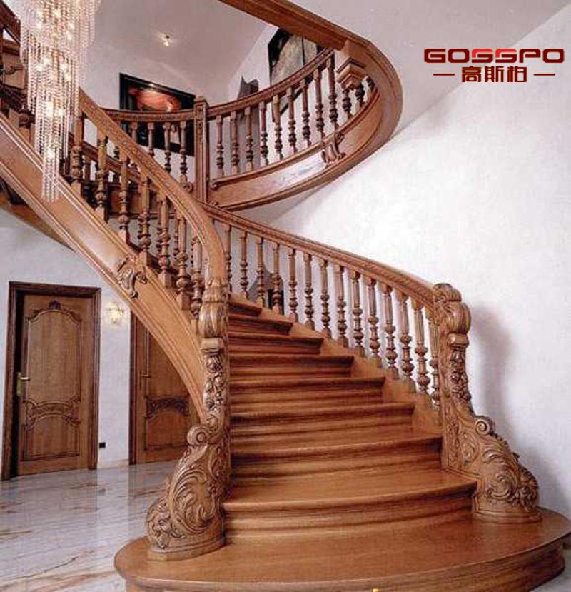 Escalera de madera tallada mano elegante de lujo del diseño (gsp15 ...