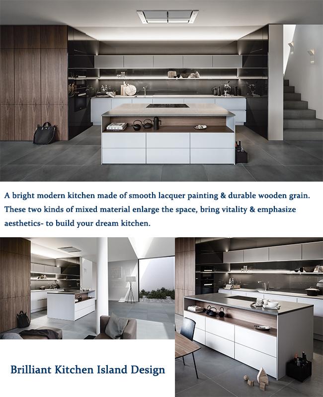 China Australian Style Modern Kitchen Furniture Lacquer