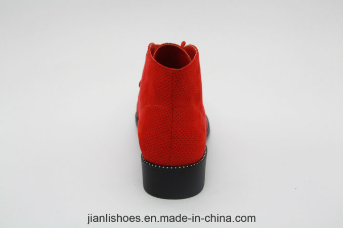 New Style Women Contracted Decoration Round Toe Ankle Boot (AB657)