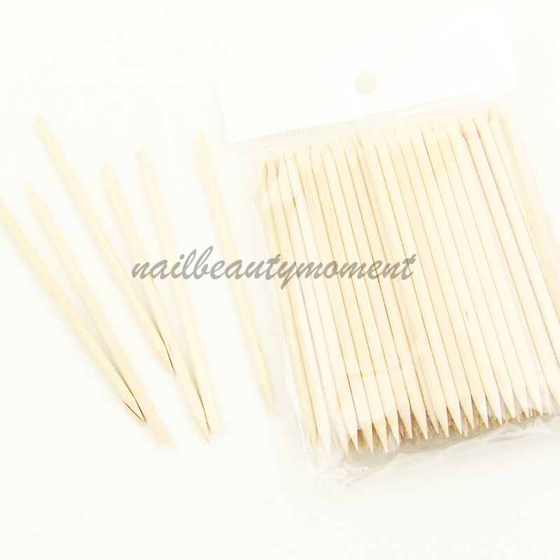 Nail Art Orange Wooden Stick Cuticle Stick Nail Tools (NT08)