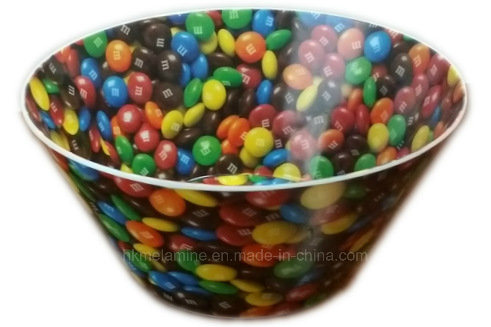 Round Melamine V Shaped Cereal Bowl with Logo (BW7093)