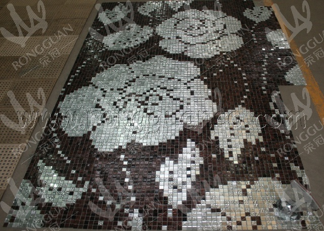 Mosaico peony flower pattern for bathroom and background wall ...