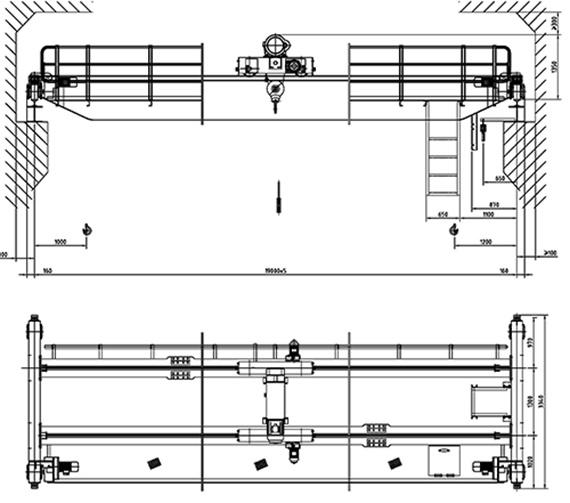 Overhead Cranes Standards : Luchtkraan van de balk het type links dubbele