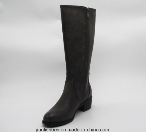 Classic England Style Knee-High Boots with Buckle Decoration (BT713)