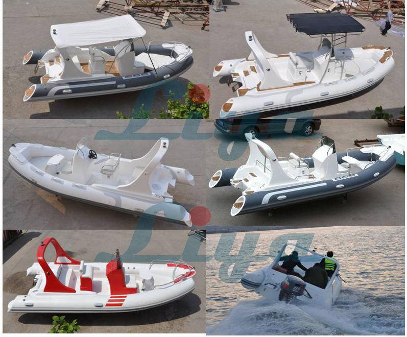 Liya 5.8m Motor PVC Rib Boat Rigid Inflatable Boat
