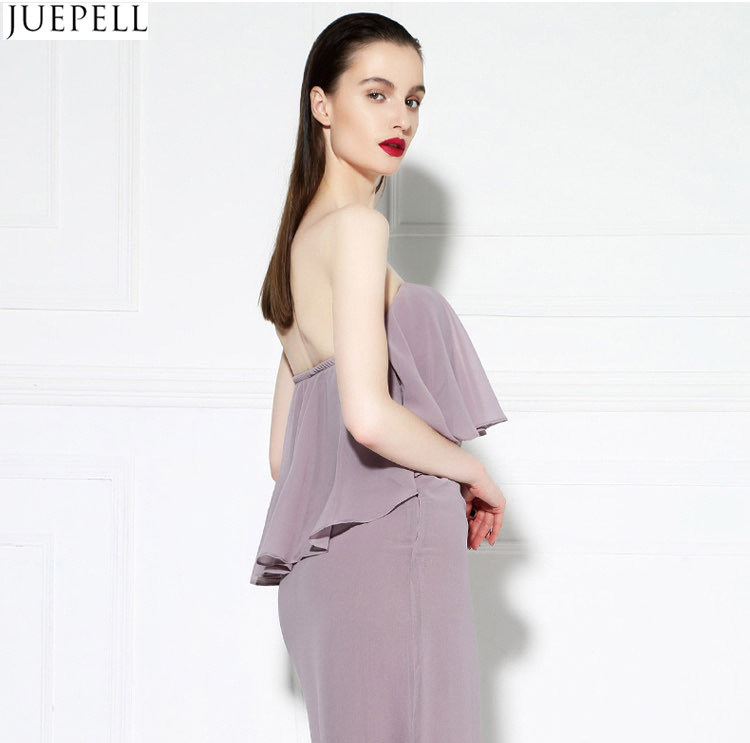 Fashion Summer New Women's Chest Wrapped in Lotus Leaf Sexy Halter Wrap Dress Sweet Temperament Slim Dress Chiffon Dresses