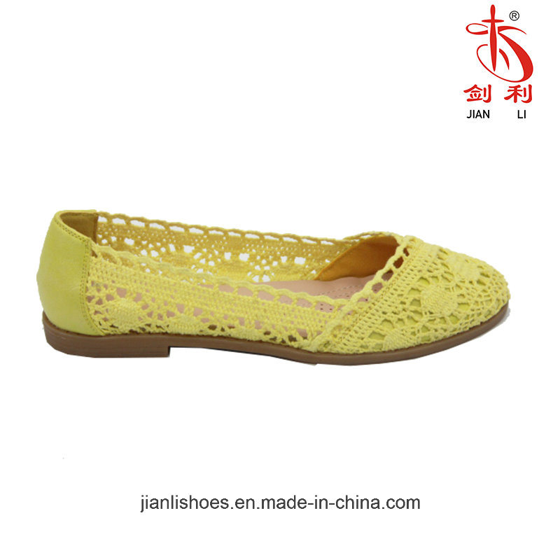 Hot Sales Lady's Flats Sandal with Carve Patterns Decoration (FL300)