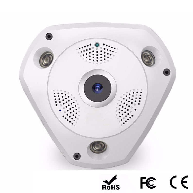 Virtual Reality HD 960p 360 Degree 3D Panoramic IP Camera