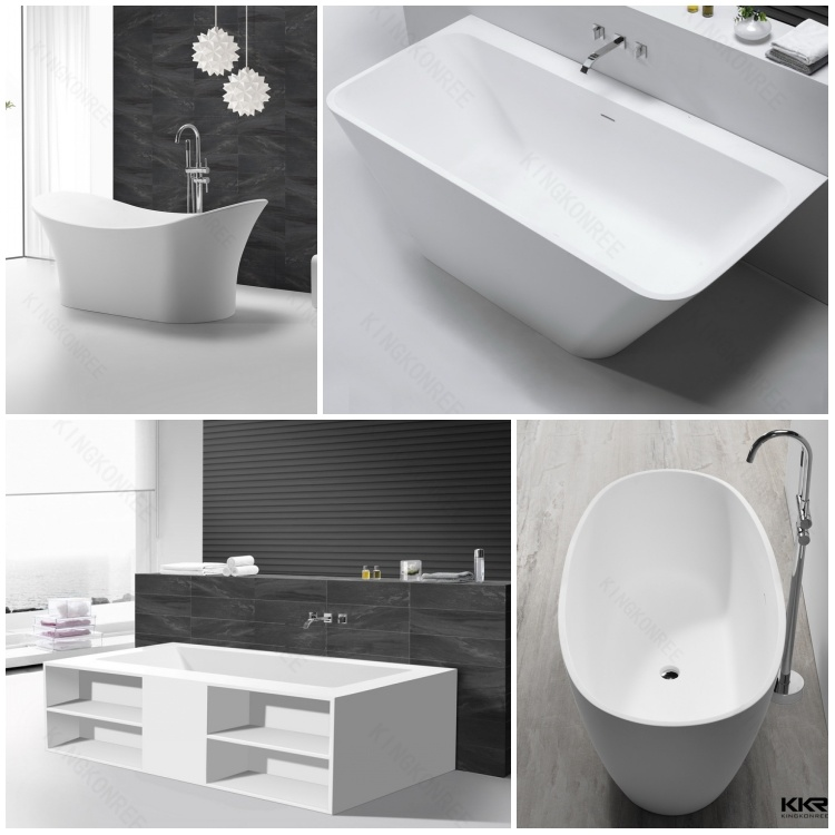 China black stone bathtub acrylic freestanding oval tub for Best freestanding tub material