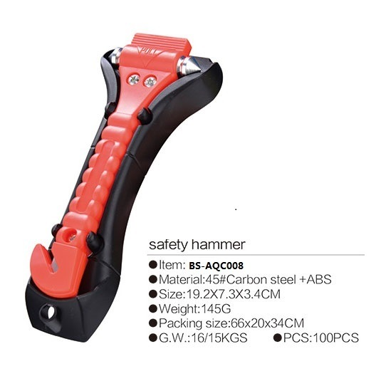 china car safety hammer emergency safety escape tool with seatbelt cutter and window breaker. Black Bedroom Furniture Sets. Home Design Ideas