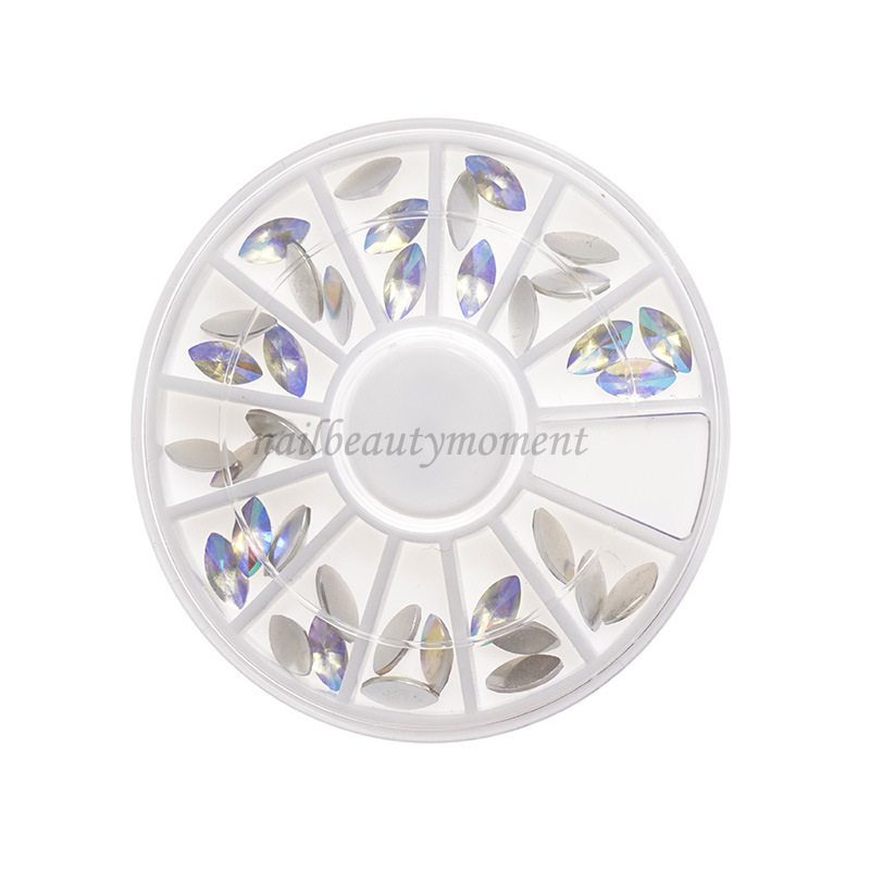 Nail Art Beauty Crystal Horse Eye Rhinestone Decoration Wheel (D84)