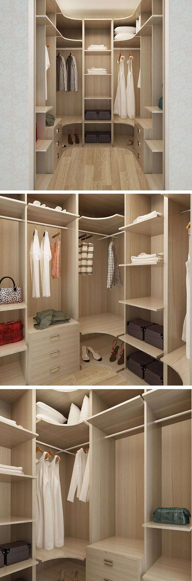 Cabinet en bois de chambre à coucher de mémoire de mélamine de ...