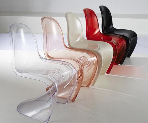 Acrylique transparent empilable mobilier de salon chaise for Chaise transparente solde